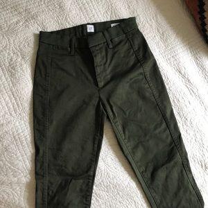 Gap Skinny Green Khaki Pants